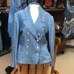 Ralph Lauren blue pinned stripe blazer